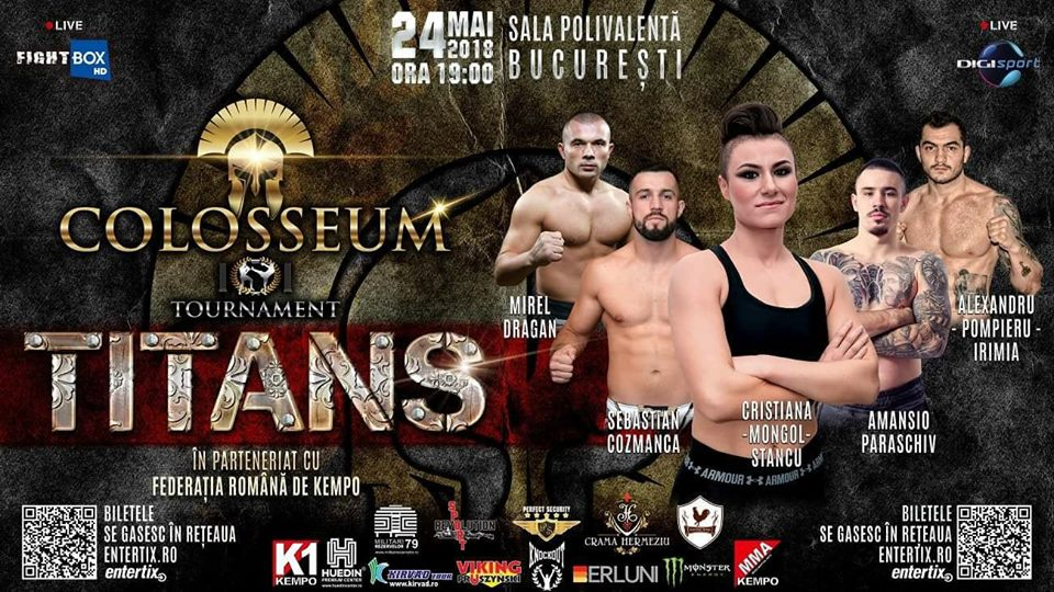 "Colosseum Tournament ""Titans"" LIVE on FightBox HD 24.05.2018 from Bucharest, Romania"