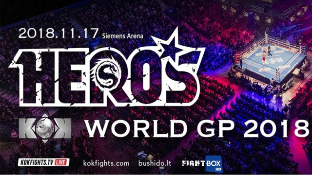 FightBox's KOK Hero's World Series - LIVE from Vilnius, Lithuania 17.11.2018