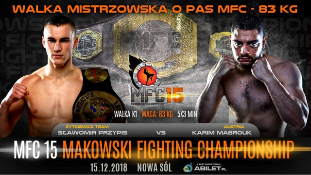 Results for MFC 15 from Nowa Sól, Poland 15.12.2018