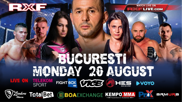 RXF MMA LIVE on FightBox HD 20.08.2018 from Bucharest, Romania