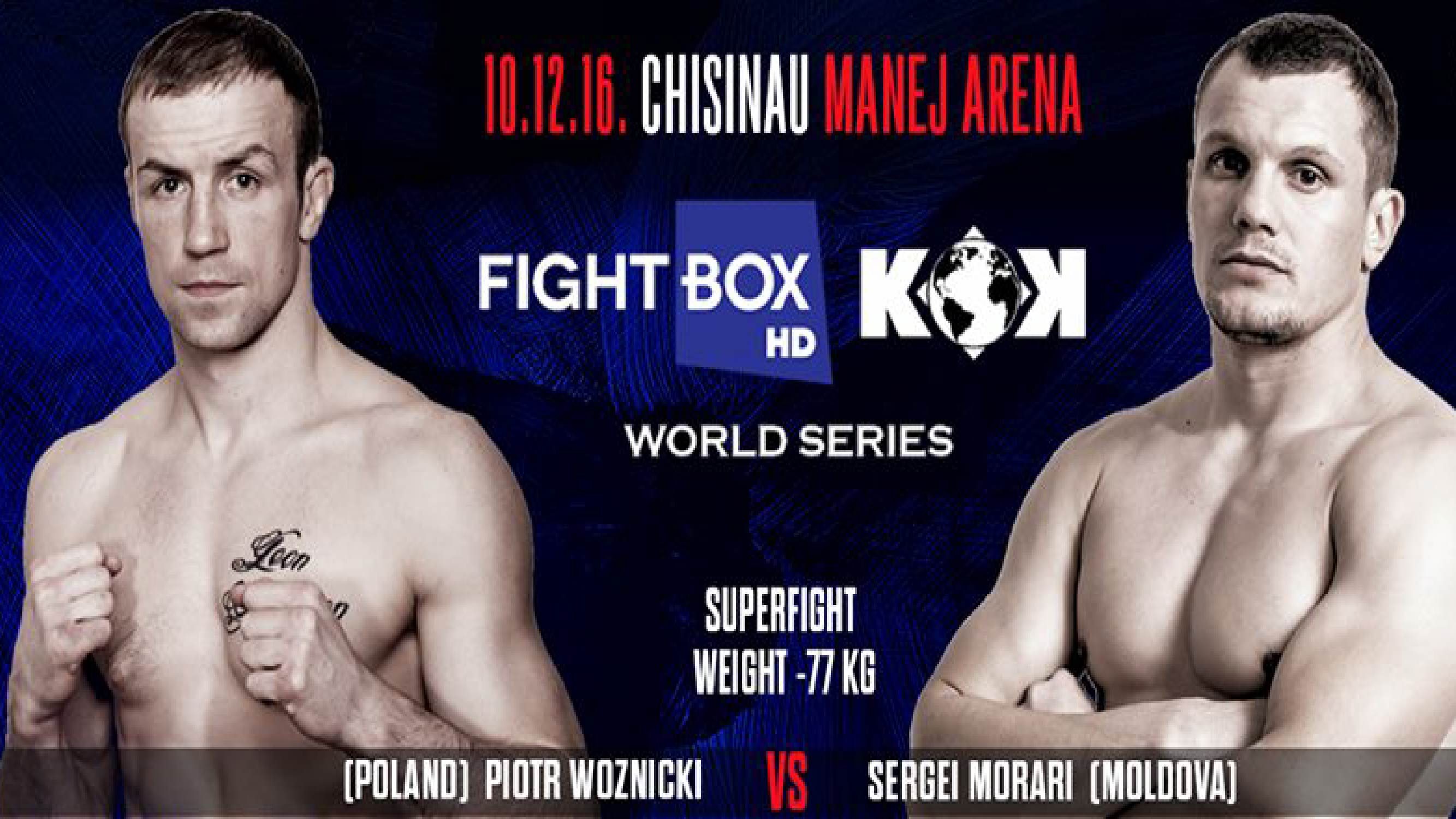 FightBox's KOK Hero's Series - LIVE on FightBox HD from Chisinau, Moldova on December 10th at 6:00pm CET