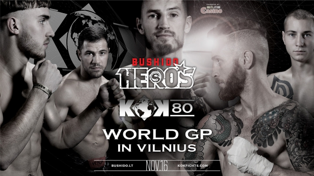 Results for the FightBox KOK Hero's Series in Vilnius, Lithuania 16.11.2019