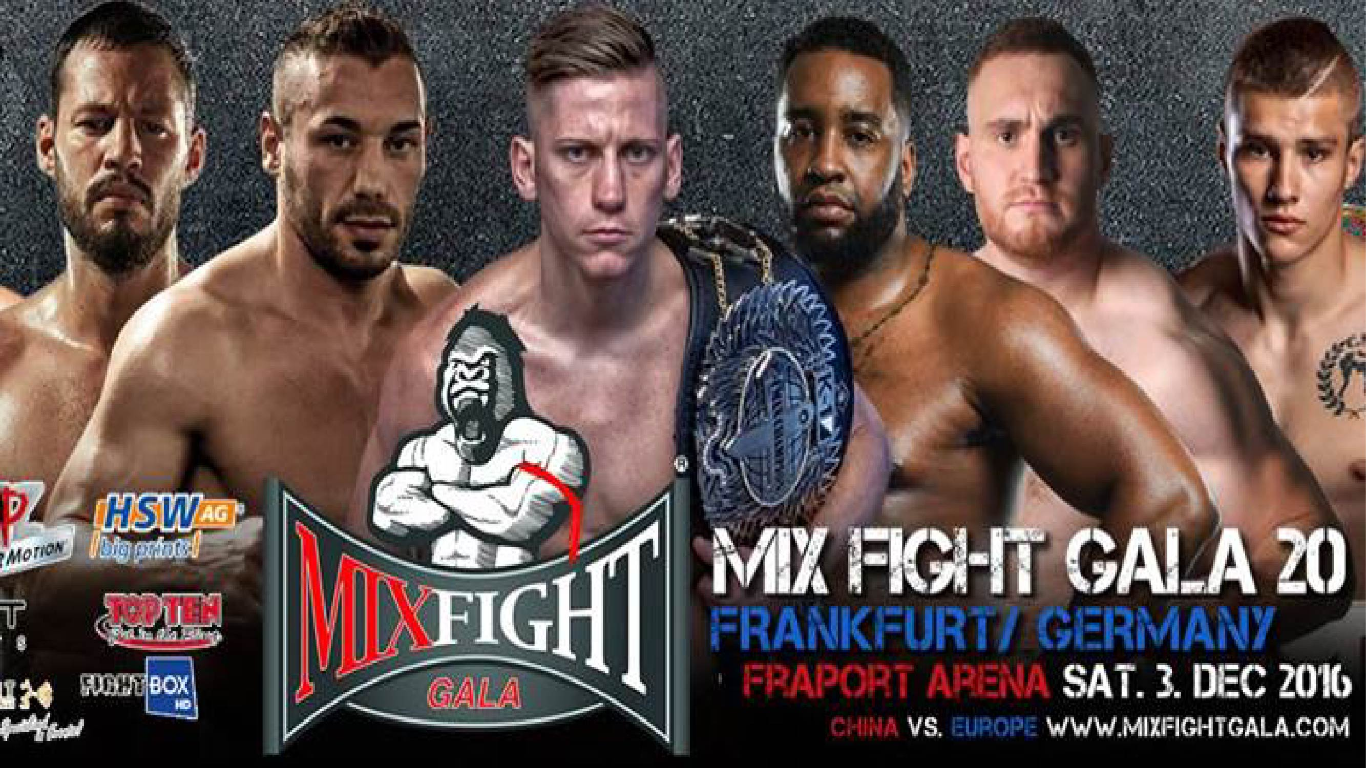 Mix Fight Gala 20 - LIVE on FightBox HD from Frankfurt, Germany on Saturday December 3rd at 9:45pm CET
