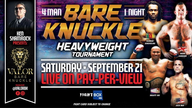 Valor Bare Knuckle - LIVE on FightBox from New Town, USA 22.09.2019 at 3:00 am CEST
